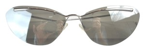 Dior CHRISTIAN DIOR Diorette Cat Eye Sunglasses Silver Grey Mirrored Model 010SS