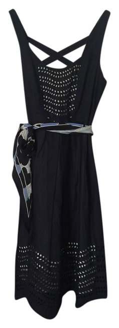 Preload https://item4.tradesy.com/images/anthropologie-cotton-party-dress-navy-3072613-0-1.jpg?width=400&height=650
