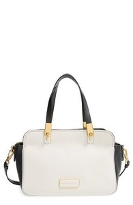 Marc by Marc Jacobs Gray Leather Crossbody Satchel in Ivory and Black