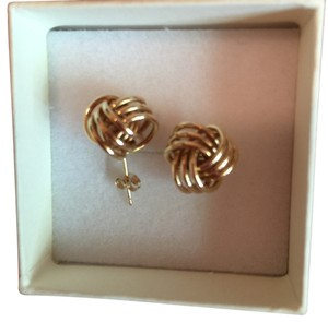 Bloomingdale's 14K YELLOW GOLD LOVE KNOT EARRINGS OF HIGH QUALITY