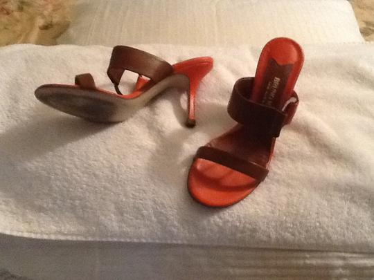 Bruno Magli Orange & Beige Sandals