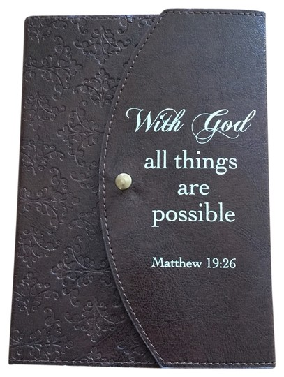 Soft Touch Classics Tuscan-Style Journal; With God all things are possible (Matt. 19:26) by Soft Touch Classics [ MissSundayBest ]