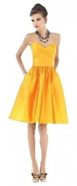 Preload https://item3.tradesy.com/images/alfred-sung-yellow-542mango6-knee-length-cocktail-dress-size-6-s-30732-0-0.jpg?width=400&height=650