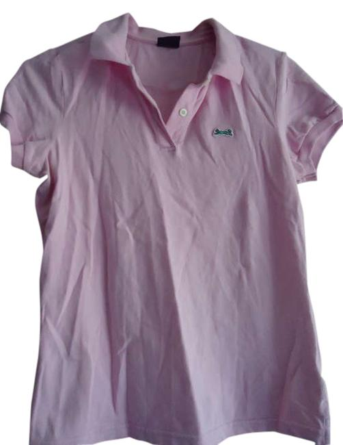 Preload https://img-static.tradesy.com/item/307348/urban-outfitters-pink-le-tigre-women-s-slim-fit-stretch-polo-from-tee-shirt-size-12-l-0-0-650-650.jpg