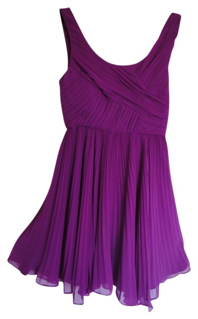 Item - Purple Women with Feathere Accessorie Mini Cocktail Dress Size 0 (XS)
