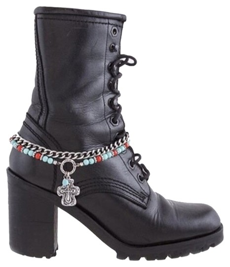 London Look by Zena's Design's Nwt/London Wrap/ANTIQUE CROSS CHARM TIERED BOOTS CHAIN ANKLET