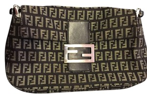 Fendi Black/Grey Clutch