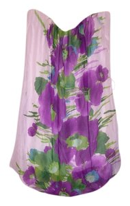 short dress Multi white green purple on Tradesy