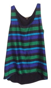 Express Top Multi green navy blue