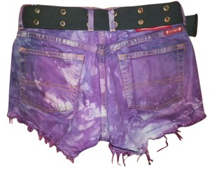 Vintage Hippie Punk Cut Off Shorts various purple