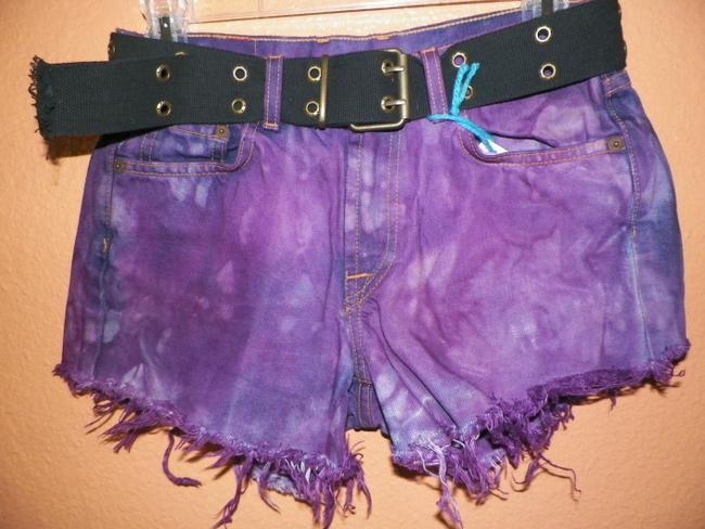 Other Vintage Hippie Punk Trailer Trash Eco Friendly Green Upcycled Affordable Fashions Fashion Felon S Daisy Dukes Denim S Cut Off Shorts various purple