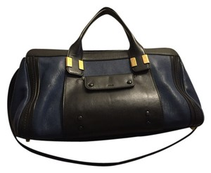 Chloé Satchel in Royal Navy Blue/Black