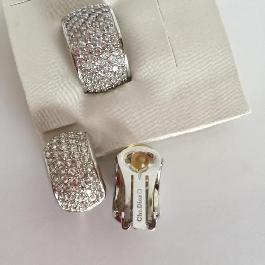 Dior Christian Dior Ring Earrings Pave Clear Crystals