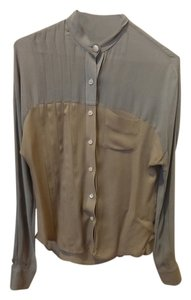 Billy Reid Top Grey and Tan