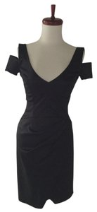 bebe Satin Cut-out Lbd Dress