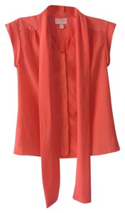 Matthew Williamson Bright Fun Daily Button Down Shirt Coral