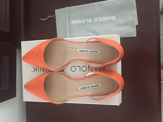 Manolo Blahnik Orange Flats