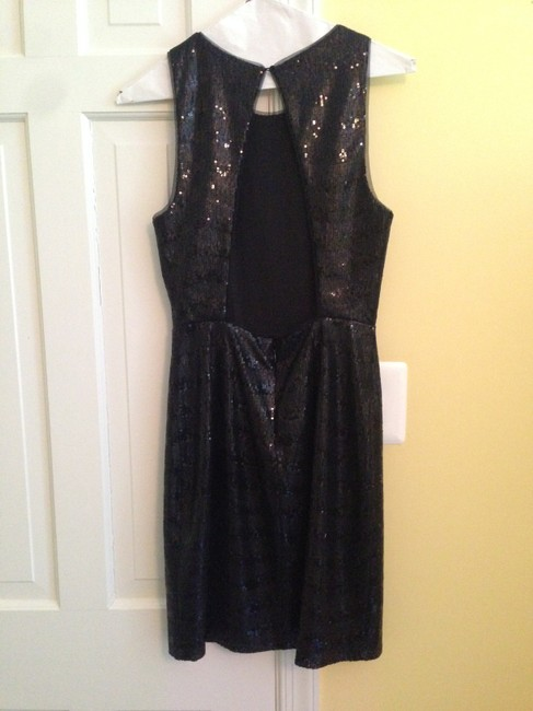 BCBGMAXAZRIA Sequin Lbd Homecoming Fitted Dress