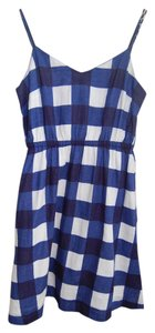 Gap short dress Checkered Blue and White on Tradesy