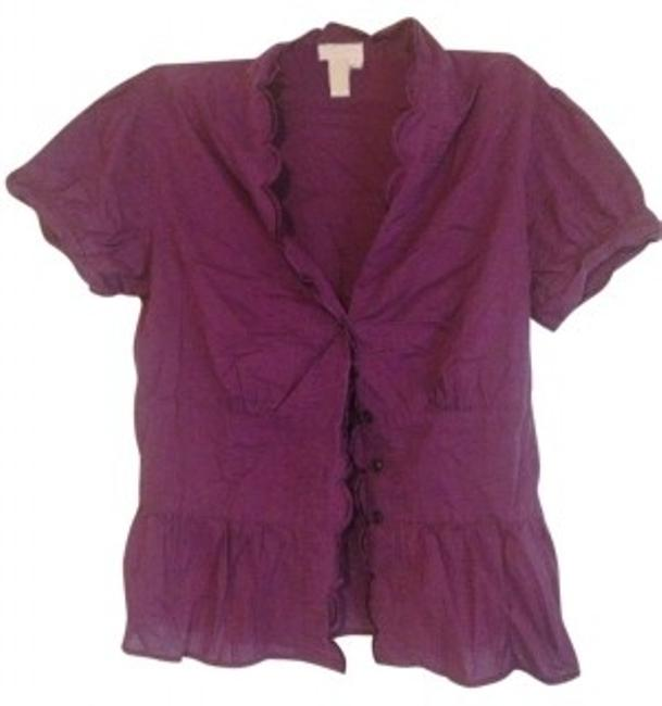 Preload https://item1.tradesy.com/images/isaac-mizrahi-for-target-purple-blouse-button-down-top-size-8-m-30745-0-0.jpg?width=400&height=650