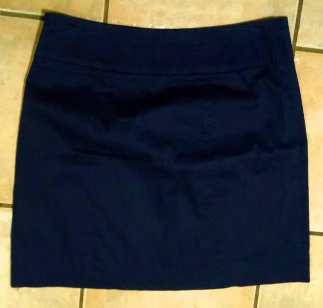 Darjoni Dress Size 8 Blue Blue Knee Length P1408 Skirt Navy