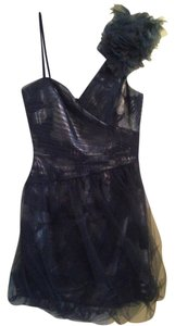BCBGMAXAZRIA Prom Homecoming Sparkle Floral One Bubble Skirt Dress