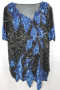 Lillie Rubin BLACK/BLUE Dress