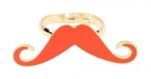 All Around Fem Ye Olde Trendy Mustache Ring Fast Shipping IN ORAN
