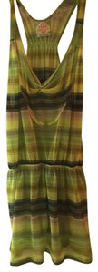 Free People Striped Tunic Knit Top Green