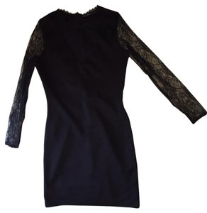 Zara Lbd Lace Lace Sleeves Dress