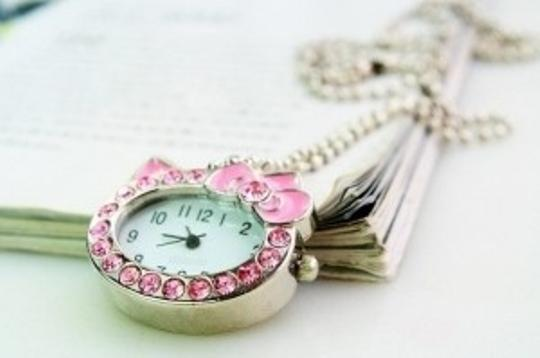 All Around Fem Hello Kitty Watch Necklace Fast Shipping