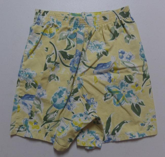 Other Skort Yellow with Blue & Green Floral Print