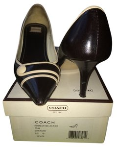 Coach Brown and ivory Pumps