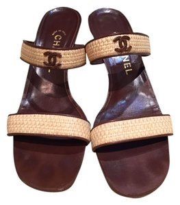 Chanel Summer Brown and Tan Sandals
