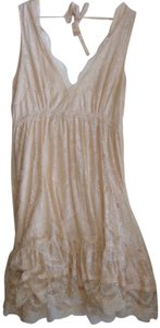 Miss Selfridge short dress Nude Lace V-neck Sleeveless on Tradesy