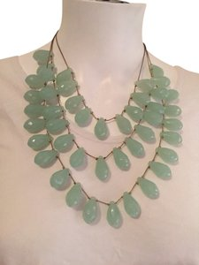 Macy's Seafoam Green Layered Statement Necklace