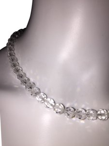 Multi-faceted Clear Crystal Beaded Necklace