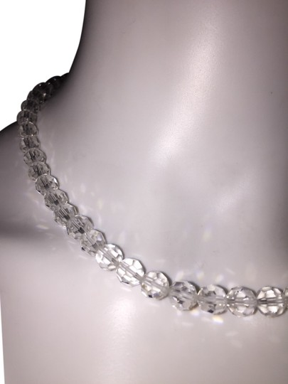 Other Multi-faceted Clear Crystal Beaded Necklace