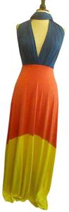 bold color block Maxi Dress by von vonni