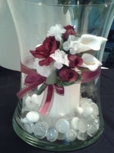 Custom Made Red/White 15 - Small Flower Bouquets