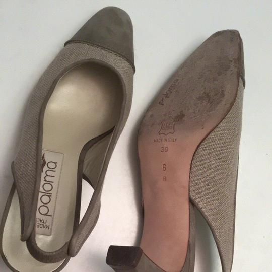 Paloma Blanca Light Brown Olive Green Pumps