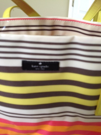 Kate Spade Tote in Pink ,yellow, brown, cream striped
