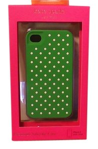 Kate Spade Kate Spade Iphone 4 Case Green with White Polka Dots