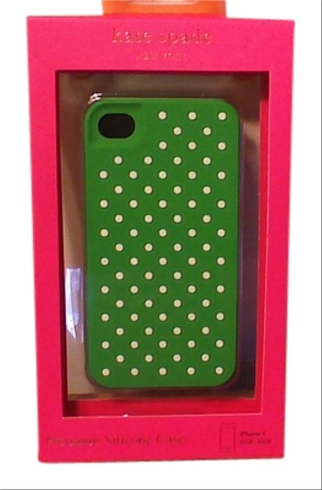 timeless design b643f 2acfb Kate Spade Kelly Green Iphone 4 Case with White Polka Dots Tech Accessory