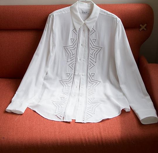 974505dd9fd5d0 delicate Equipment New  388 Reese Clean Embroidered Shirt In Silk Size Xs  Button Down Shirt -
