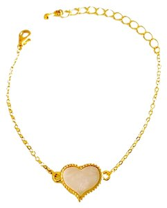 MOP Heart Bracelet 18k Gold Plated