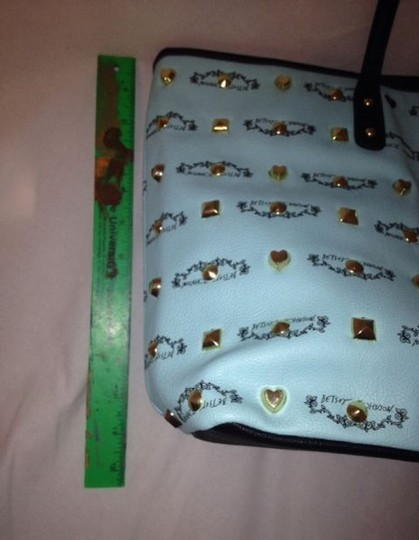 Betsey Johnson Studded Handbag Purse Tote in blue