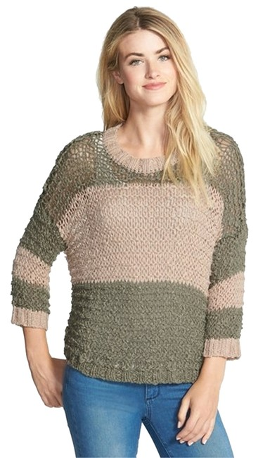 Preload https://item4.tradesy.com/images/vince-camuto-pink-and-green-sweaterpullover-size-4-s-3079288-0-0.jpg?width=400&height=650