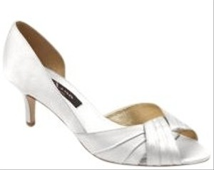 Nina Shoes Wedding Satin Ivory Luster Pumps