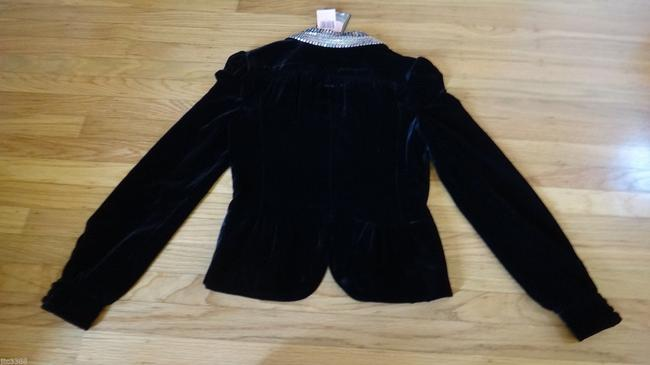 Juicy Couture Sequins Velvet Silk Black Blazer